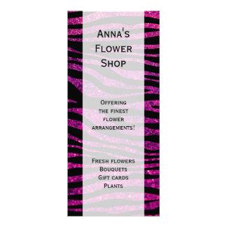 Panfleto Impressão animal, listras da zebra, brilho - rosa