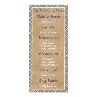 Panfleto Informação clássica da festa de casamento das
