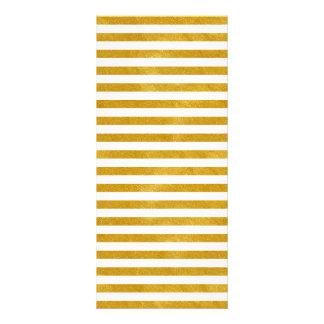 Panfleto Listra elegante do ouro - costume sua cor