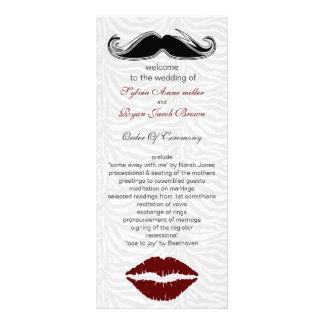 Panfleto listras da zebra do beijo e do bigode que wedding