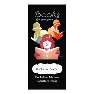 Panfleto Livrarias ou biblioteca do vintage personalizadas