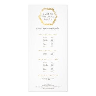 Panfleto Logotipo dourado do salão de beleza Tanning do