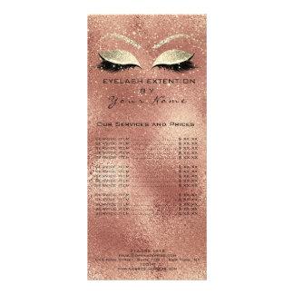 Panfleto Lux cor-de-rosa do ouro da composição da extensão