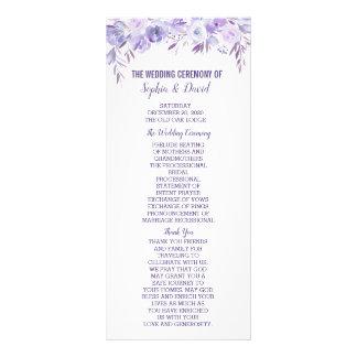 Panfleto Luz - programa floral azul empoeirado roxo do