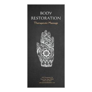 Panfleto Mão 4 do tatuagem de Lotus do Henna do terapeuta