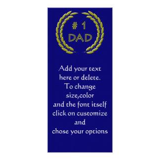 Panfleto Modelo dourado do marcador do pai do número 1