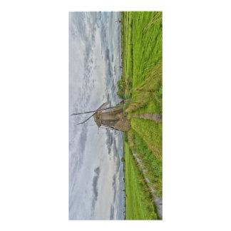 Panfleto moinhos de vento do local do património mundial de