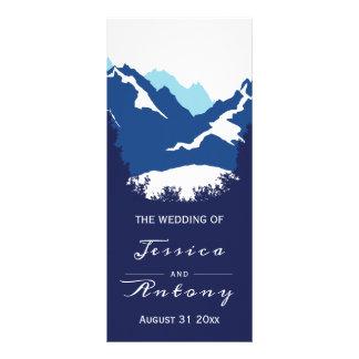 Panfleto Montanhas azuis e árvores das coníferas que
