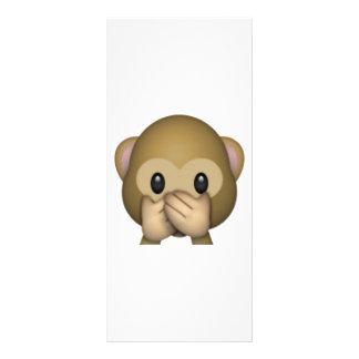 Panfleto Não fale nenhum macaco mau - Emoji