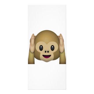 Panfleto Não ouça nenhum macaco mau - Emoji