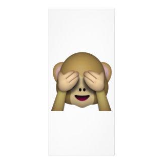 Panfleto Não veja nenhum macaco mau - Emoji
