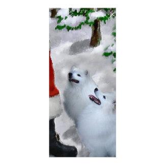 Panfleto Natal americano do cão Eskimo