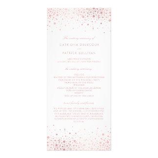 Panfleto O casamento elegante dos confetes cor-de-rosa da