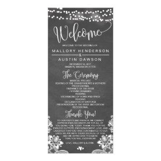 Panfleto O giz ilumina o programa da cerimónia de casamento