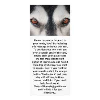 Panfleto Olhos de Brown do cão do Malamute