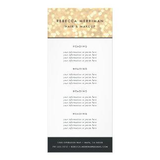Panfleto Ouro Bokeh fixação do preço ou serviços de | de