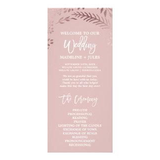 Panfleto Ouro cor-de-rosa elegante e programa cor-de-rosa