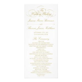 Panfleto Ouro elegante & modelo branco do programa do