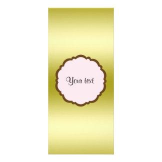 Panfleto Ouro glamoroso personalizado