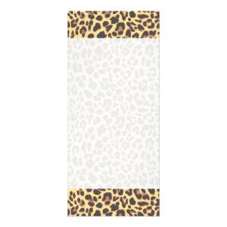Panfleto Padrões da pele animal do impressão do leopardo