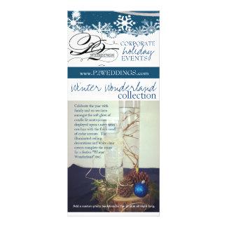 Panfleto País das maravilhas do inverno dos casamentos P2