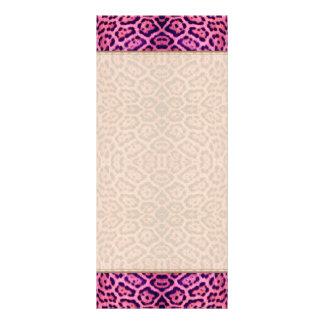 Panfleto Pele de Jaguar no rosa e no roxo