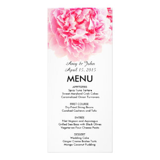 Panfleto Peônia cor-de-rosa que wedding muitos peony3