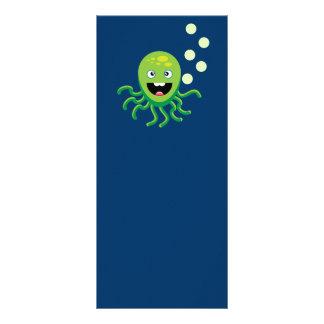 Panfleto Polvo engraçados verdes