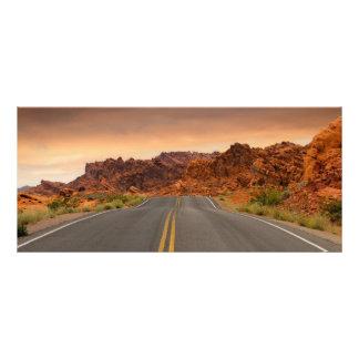 Panfleto Por do sol da viagem por estrada