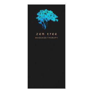 Panfleto Preto elegante do logotipo da árvore do zen de