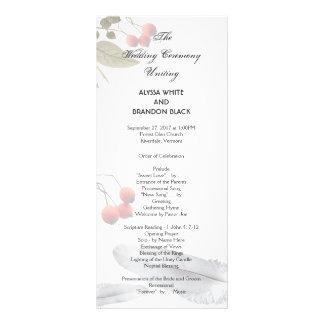 Panfleto Programa alto da cerimónia de casamento da