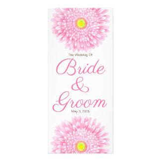 Panfleto Programa cor-de-rosa do casamento do Gerbera