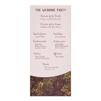 Panfleto Programa da parede da planta do rubi