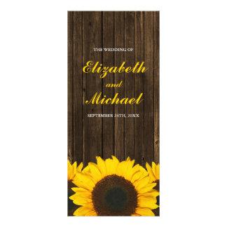 Panfleto Programa de madeira do casamento do celeiro dos