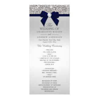 Panfleto Programa de prata do casamento do arco dos azuis