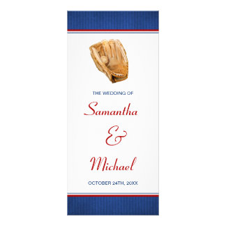 Panfleto Programa do casamento do basebol