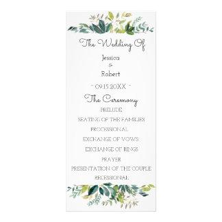 Panfleto Programa do casamento do buquê das hortaliças