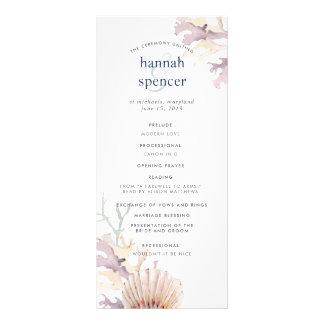 Panfleto Programa do casamento do recife de corais