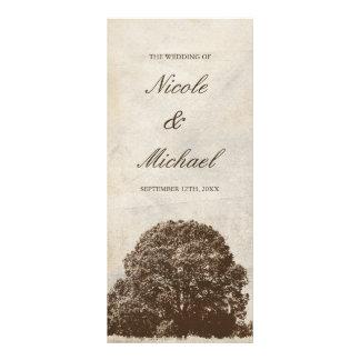Panfleto Programa do casamento outono do carvalho de Brown