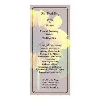 Panfleto Programa dourado do casamento do girassol