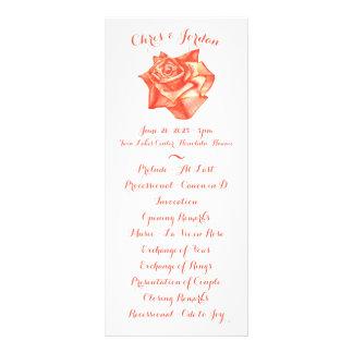 Panfleto Programa elegante simples da cerimónia de