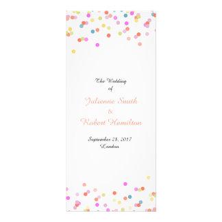 Panfleto Programa festivo da cerimónia de casamento dos