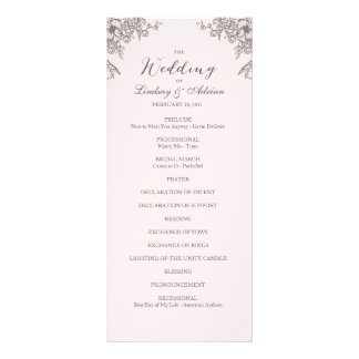 Panfleto Programa floral do casamento da elegância