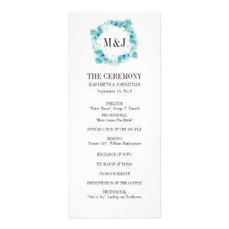 Panfleto Programa floral do casamento da grinalda da