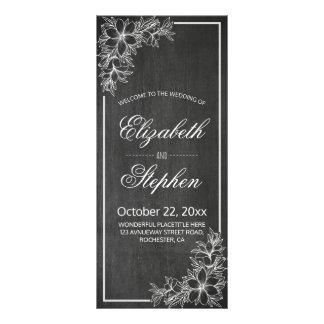Panfleto Programa floral do casamento do quadro elegante do
