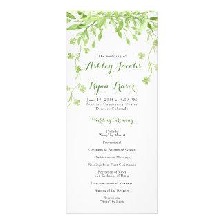 Panfleto Programa floral do casamento do trevo das