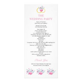 Panfleto Programa floral elegante do casamento