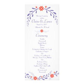 Panfleto Programa frondoso do casamento da flor