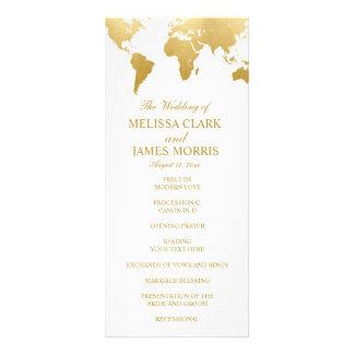 Panfleto Programa Glam da cerimónia de casamento do