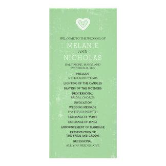 Panfleto Programa irlandês 3991 do casamento do coração